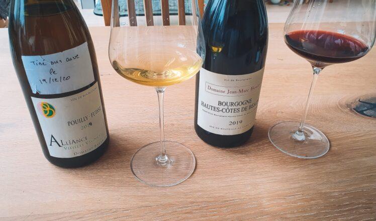 2019 Pouilly-Fuissé L'Alliance, Domaine Barraud & 2019 Bourgogne Rouge Hautes Côtes de Beaune, Domaine Jean-Marc et Thomas Bouley